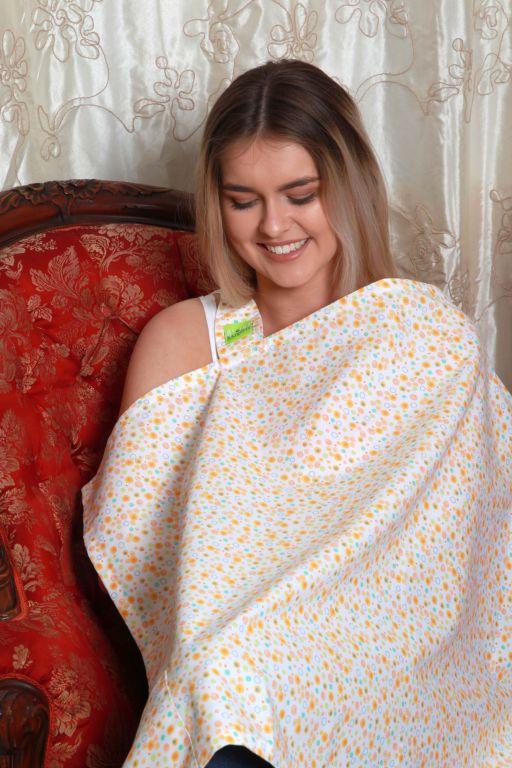 Bubí Bainne Nursing Cover Orange Bubbles